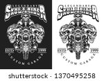 a set illustration skull rider... | Shutterstock .eps vector #1370495258