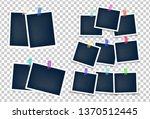 different sizes photo frames... | Shutterstock .eps vector #1370512445