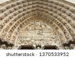 paris notre dame cathedral... | Shutterstock . vector #1370533952