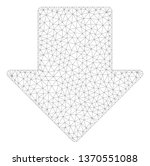 mesh arrow down polygonal 2d... | Shutterstock .eps vector #1370551088