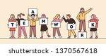 teamwork characters standing in ... | Shutterstock .eps vector #1370567618