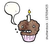 cartoon muffin | Shutterstock . vector #137056925