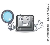 detective button f isolated in...   Shutterstock .eps vector #1370576672