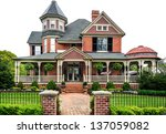 victorian house with white... | Shutterstock . vector #137059082