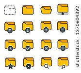 folder icons collection   Shutterstock .eps vector #1370604392