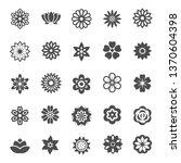 flower silhoutte icons... | Shutterstock .eps vector #1370604398