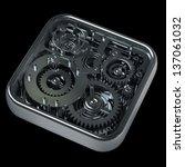 3d gears box. work concept.... | Shutterstock . vector #137061032