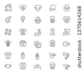 charity line icons   Shutterstock .eps vector #1370614268