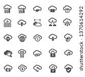 clouds icon collection   Shutterstock .eps vector #1370614292
