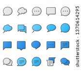 speech bubble icons collection   Shutterstock .eps vector #1370614295