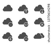 clouds icon collection   Shutterstock .eps vector #1370614298