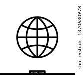 globe icon vector illustration... | Shutterstock .eps vector #1370630978