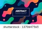 bubble fluid liquid waves... | Shutterstock .eps vector #1370647565