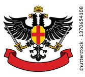 eagle two headed heraldry with... | Shutterstock .eps vector #1370654108