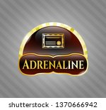 gold emblem with certificate...   Shutterstock .eps vector #1370666942