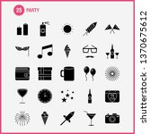 party solid glyph icon for web  ...