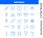 birthday line icon for web ...