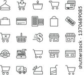 thin line vector icon set  ... | Shutterstock .eps vector #1370689085
