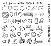 social media icon vector line... | Shutterstock .eps vector #1370689955