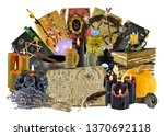 design collage with group of... | Shutterstock . vector #1370692118