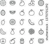 thin line vector icon set  ... | Shutterstock .eps vector #1370701292