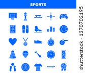 sports solid glyph icon for web ...