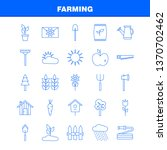 farming line icon for web ...