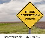 stock correction ahead  ... | Shutterstock . vector #137070782