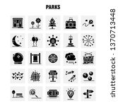 parks solid glyph icons set for ...