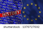 european union and history flag ... | Shutterstock . vector #1370727032