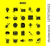 music solid glyph icons set for ...