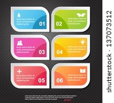 modern soft color design... | Shutterstock .eps vector #137073512