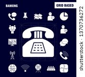 banking solid glyph icon for... | Shutterstock .eps vector #1370736272