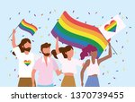lgbt community together to... | Shutterstock .eps vector #1370739455