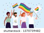 lgbt community together to...   Shutterstock .eps vector #1370739482