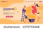 office people work together... | Shutterstock .eps vector #1370742668