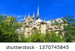notre dame cathedral  paris ... | Shutterstock . vector #1370745845
