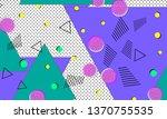 90s pattern. memphis trend....   Shutterstock .eps vector #1370755535
