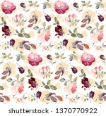 seamless pattern with detailed... | Shutterstock .eps vector #1370770922