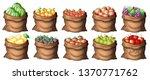 set of fruit bags illustration | Shutterstock .eps vector #1370771762