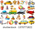 set of childrens toys... | Shutterstock .eps vector #1370771822