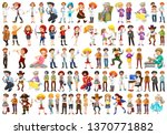set of different characters... | Shutterstock .eps vector #1370771882