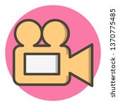 video camera icon design    Shutterstock . vector #1370775485