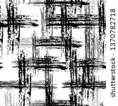 grunge cracked black and white... | Shutterstock .eps vector #1370782718