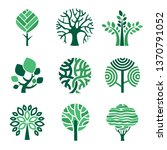 tree logo. green eco symbols... | Shutterstock .eps vector #1370791052