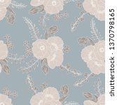 seamless floral pattern  beige... | Shutterstock . vector #1370798165