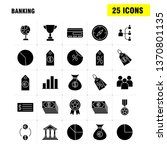 banking solid glyph icon for...
