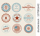 independence day stamps color... | Shutterstock .eps vector #137081642