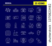 medical line icons set for...