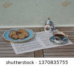 english teacup with saucer ... | Shutterstock . vector #1370835755